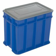 Award MULTISTACK STORAGE CRATE WITH LID Pad Lockable, BLUE *Aust Made- 9L Or 26L