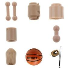 1:6 Nude Head Feet Neck Connetor Body Part for 12 Inch BBI Dragon Action Figures