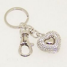 Bling Crystals Rhinestone Key Chain Keyring Holder Handbag Chain