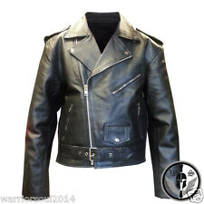 NEW MEN BLACK REAL LEATHER BRANDO PERFECTO MOTORCYCLE BIKER STYLE LEATHER JACKET