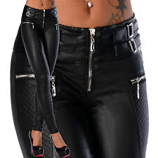 Sexy New Women's Stretchy Jeans Trousers High Waisted Skinny Slim Wet Look X 161