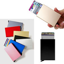 Black Business Aluminum ID Credit Card RFID Protector Holder Wallet Unisex