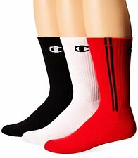 Champion CH209 Mens 3 Pack Dyed Crew Socks 10-13/Shoe- Choose SZ/Color.