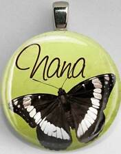 Handmade Interchangeable Magnetic Nana Butterfly #18 Pendant Necklace
