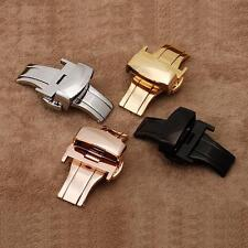 16 18 20 22 24mm Stainless Steel Butterfly Deployment Buckle Watch Strap Bands