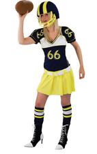 Adult Ladies American Football Girl Superbowl Hen Fancy Dress Outfit Costume