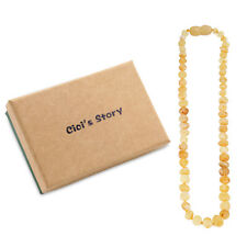 Raw Baltic Amber Teething Necklace for Baby (Butterscotch Raw) - 3 Sizes