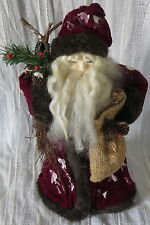 """OLD WORLD SANTA, 12.5"""" TALL, TABLE TOP DECOR OR TREE TOPPER"""