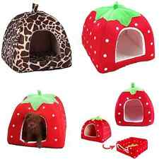 Strawberry Pet Dog Cat Bed Soft House Kennel Doggy Puppy Warm Cushion Basket Pad