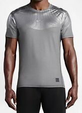 Nike Pro Combat Hypercool Max Metalized Shirt Mens M L XL Gray Silver 744281 001