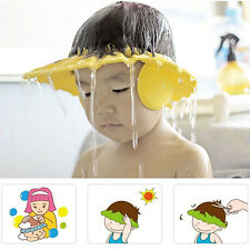 New Baby Kid Safe Shampoo Bath Shower Adjustable Cap Hat Wash Hair Eye Shield