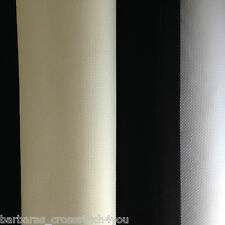 14ct DMC ECRU WHITE BLACK  AIDA FABRIC IN METRE'S OR 1/4 METRE'S