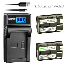 Kastar Battery and LCD Slim USB Charger for Canon BP-511 511A PowerShot G1 EOS