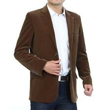 Mens Corduroy Two Button Casual Or Business Blazers Lapel Jackets Coats Outwear