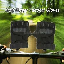 Hard Knuckle Tactical Gloves Half Finger Sport Shooting Paintball Hunting J0O3