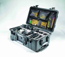 Peli 1510 Protective Waterproof Plastic Case, with PADDED DIVIDERS & PHOTO LID