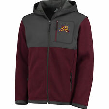 Colosseum Minnesota Golden Gophers Maroon/Charcoal Miramar Full-Zip Jacket