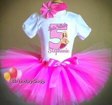 Girls Barbie Tutu Birthday Outfit Size 2T 3T 4T Barbie Birthday Outfit Pink Tutu