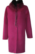 Faux Fur Collar Single-breasted reversible Double-faced Cashmere Wool Long Coat