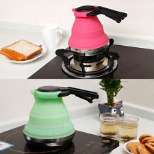 1pc Camping Practical Collapsible Kettle Folding Pop-Up Gas Stove Hot Water Pot
