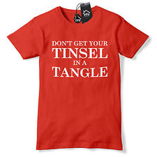 Dont Get Tinsel in a Tangle Funny Christmas T Shirt Gift Geek Wifey Tee Top CH29