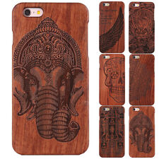Luxury Patterned Wood Bamboo Cell Phone Case Back Cover For iPhone 5 5s SE Shell