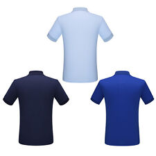Business Style New Mens Short Sleeve Shirt Pure Color Design Polo Shirt UK