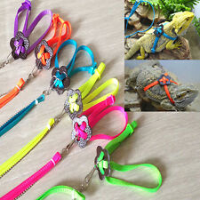 Adjustable Reptile Lizard Harness Leash Durable Multicolor Light Rope Exquisite