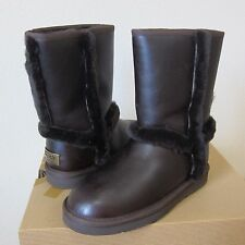 UGG Australia Women's Carter Leather Shearling Boots Water Resistant Boots