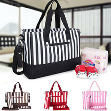 Diaper Bags Nappy Striped Mother Mummy Bag Fashion Bag Pregnant Expectant Bag