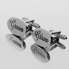 New Fashion Mens Shirt Cufflinks Oval Silver Cuff Links Accessories