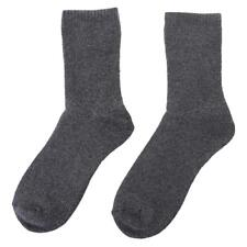 Mens Thermal Hiking Boot Socks Thick Winter Warm Adults Walking Socks Gray