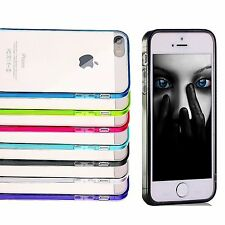 iPhone 5 / 5s Apple Case Hard Clear TPU w/ Dust Plug Cover Protector SE (2016)