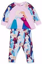 PETER ALEXANDER PJS Baby Girl Set DISNEY FROZEN 0000/000/00/1 Top & Pants NWT PJ