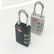 TSA 3 Digit Code Combination Lock Resettable Travel Luggage Padlock Black/Silver