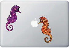 "CLR:MB - Seahorse Stained Glass Vinyl Laptop Decal ©YYDC (2""w x 5""h) (SINGLE)"