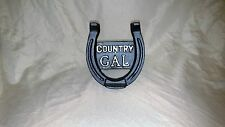 Counrty Gal horse shoe Trailer hitch cover