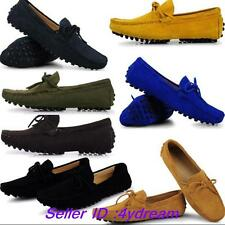 Moccasin Men Driving Boots Loafer Suede Leather Tie Slip On Boat Shoes 8 Colors