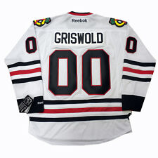 Christmas Vacation Clark GRISWOLD #00 Chicago Blackhawks Away Reebok NHL Jersey