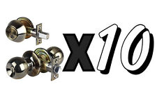 Ten 10 Combo Entry Lock Set |Door Knob & Deadbolt Keyed Alike Keyways: SC1 - KW1