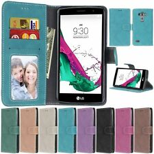 Leather Retro Flip Wallet Cards KickStand Magnetic Case Cover For LG Smart Phone
