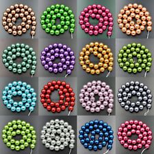 """Wholesale 12mm Top Quality Czech Glass Pearl Round Beads 16"""" Pick Color"""