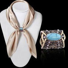 2016 Fashion Accessorie Bohemia Vintage Bronze Silver Plated Turquoises Brooch