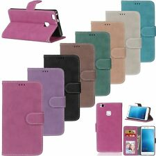 Luxury Flip Leather Wallet Card Stand Case Cover For Huawei Ascend P7 P8 P9 Lite