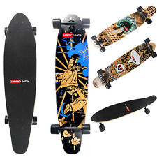 "41"" X 9.4"" Cruiser Complete Longboard Through Drop Downhill Skateboard Maple"