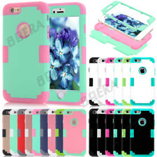 Heavy Duty Shockproof Rubber Tough PC Combo Glossy Matte Armor Case For iPhone