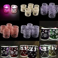 6pcs Retro Mix Styles Christmas Heart Tea Light Candle Holder Stand Home Decor