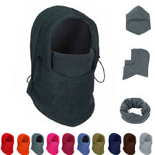Winter Wind Fleece Balaclava Hood Swat Ski Mask Bike Beanies Stopper Face Hats b