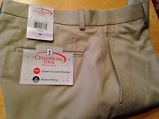 Champions Tour Mens Golf Shorts Moisture Wicking-Taupe, Black, Navy, Many Sizes