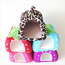 New Cute Soft Strawberry Pet Bed Winter Warm Dog Cat Pad Cushion House 1pc